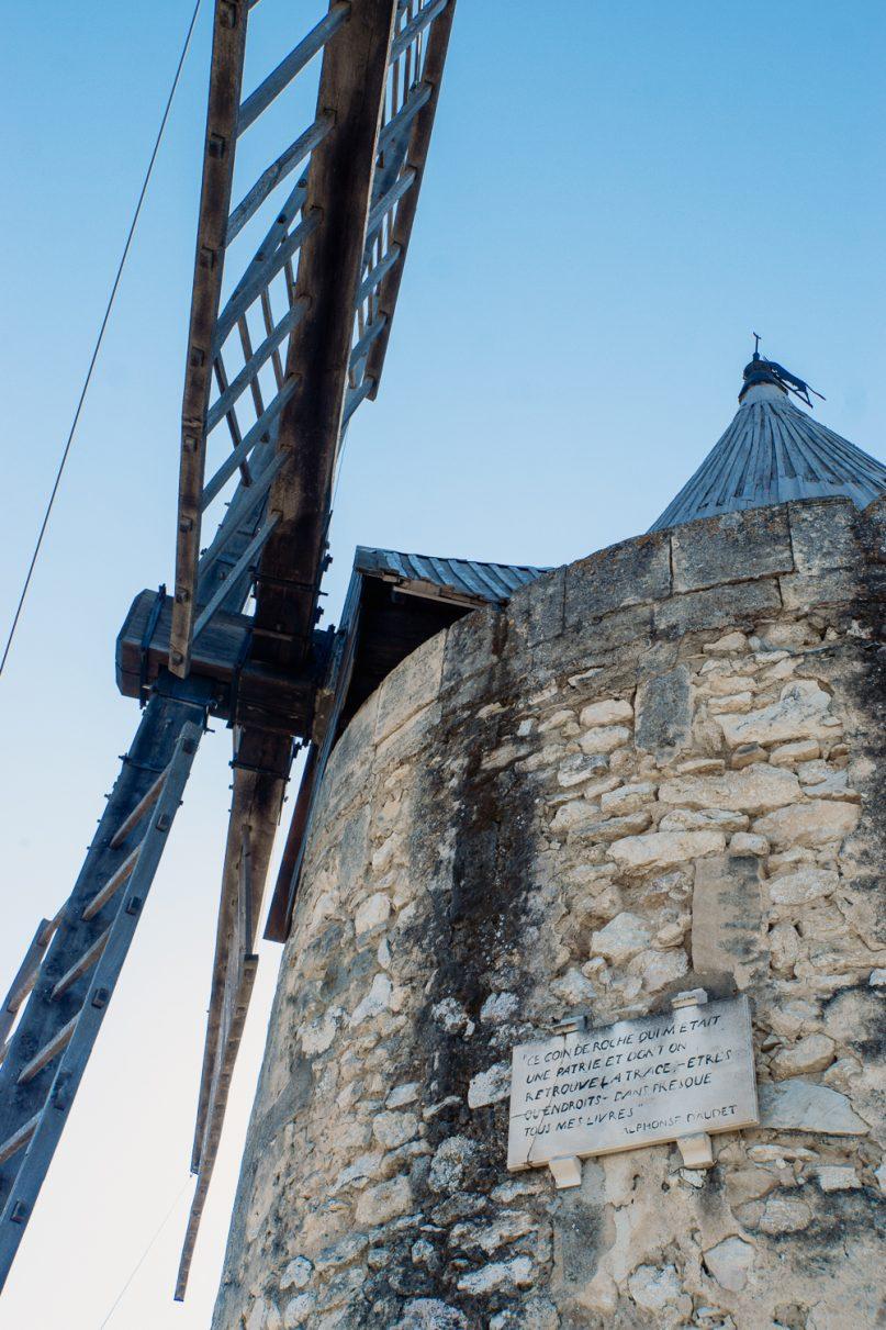 Alfonso Daudet Windmühle in Fontvieille, Frankreich