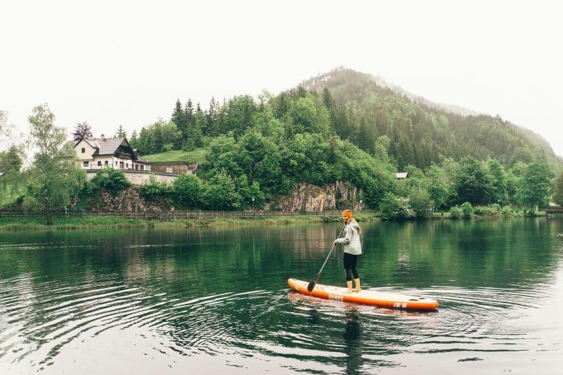Niederösterreich Urlaub: Lunzer See im Mostviertel - SUP