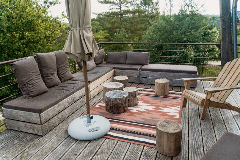 Village Huttopia Sud Ardeche Lounge im Gemeinschaftsbereich