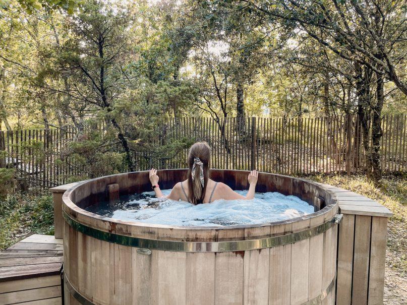 Village Huttopia Sud Ardeche Wald Spa Hotpool