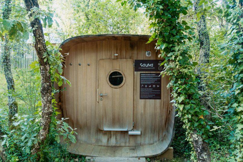 Village Huttopia Sud Ardeche Wald Spa Sauna